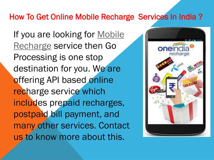 how to get online mobile recharge services n.