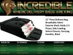 12 pizza delivery bag breathable fabric exterior
