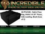 ib pf3 24b fabric pizza bag holds 3 4 24 pizzas