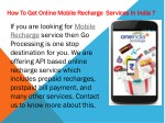 how to get online mobile recharge services