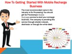 how to getting started with mobile recharge