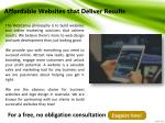 affordable websites t hat deliver results