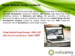 cheap website design canberra