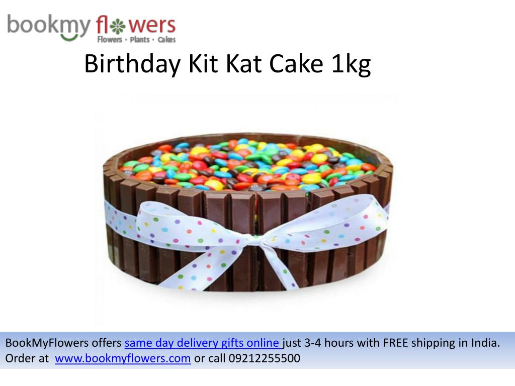 Birthday Kit Kat Cake 1kg BookMyFlowersoffers Same Day Delivery Gifts Online