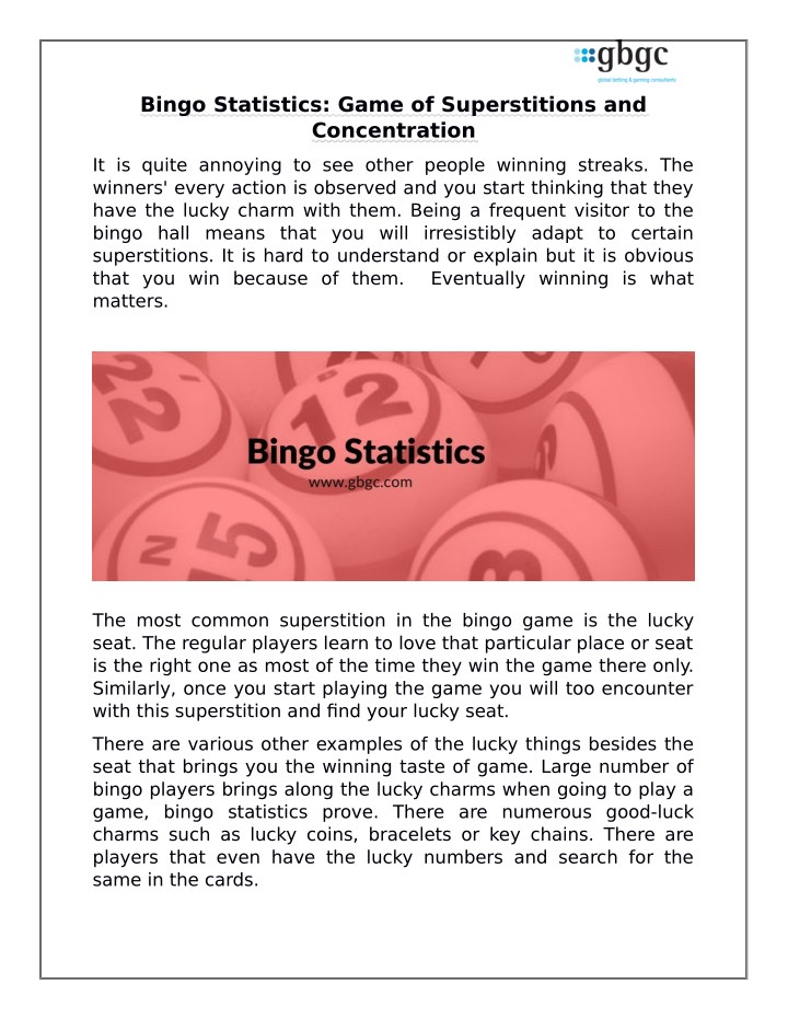 bingo statistics game of superstitions n.