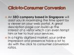 click to consumer conversion