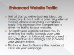 enhanced website traffic
