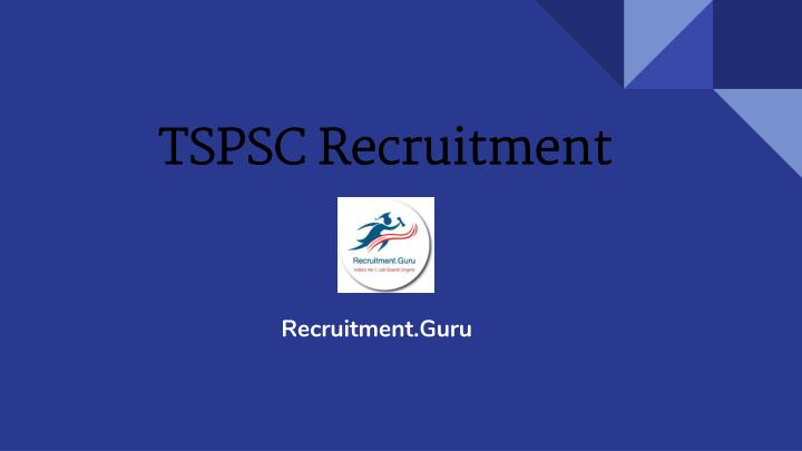 tspsc recruitment n.