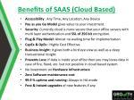 benefits of saas cloud based