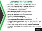 growthfactor benefits
