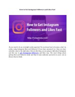 how to get instagram followers and likes fast