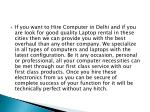 if you want to hire computer in delhi