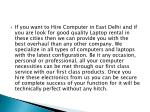 if you want to hire computer in east delhi