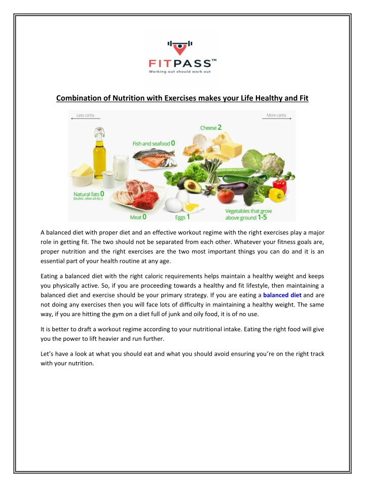 combination of nutrition with exercises makes n.
