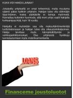 kuka voi hakea lainaa