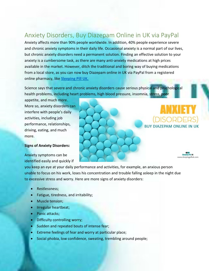 anxiety disorders buy diazepam online n.