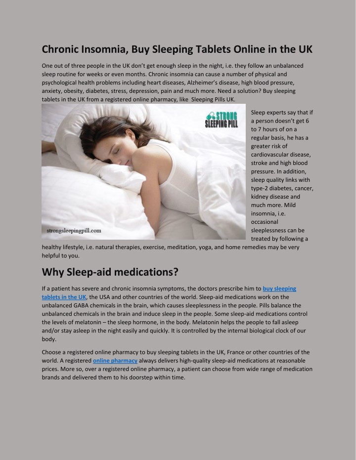 chronic insomnia buy sleeping tablets online n.