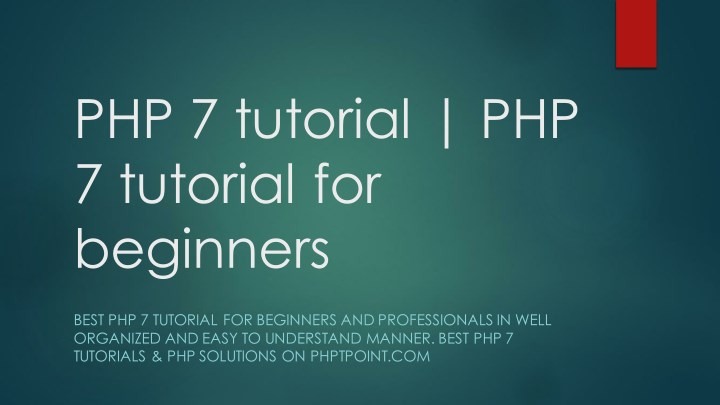 php 7 tutorial php 7 tutorial for beginners n.