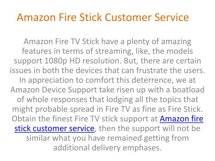 amazon fire stick customer service n.