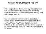 restart your amazon fire tv