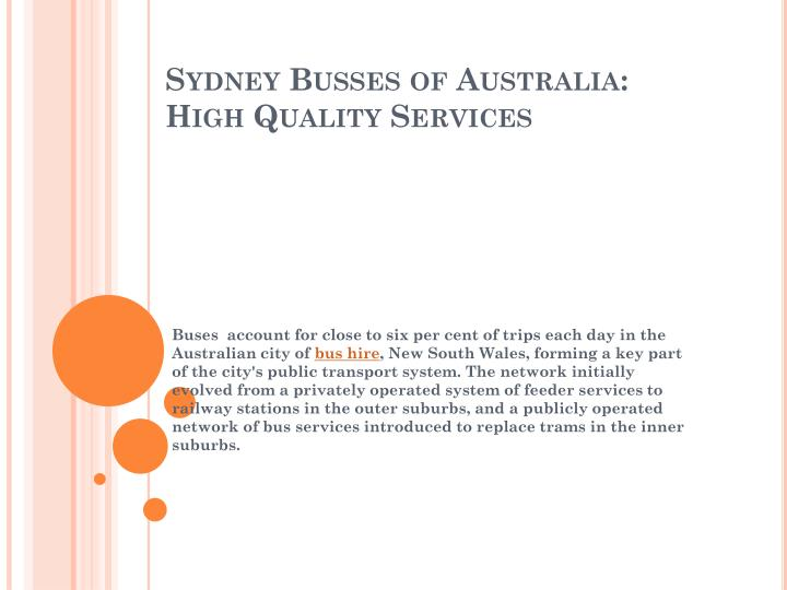 sydney busses of australia high quality services n.