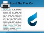 about the print co