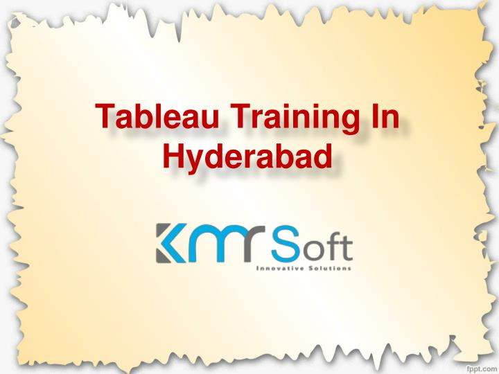 tableau training in hyderabad n.
