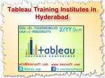 tableau training institutes in hyderabad