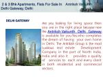 2 3 bhk apartments flats for sale in antriksh vaikunth delhi gateway delhi