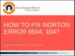 how to fix norton error 8504 104