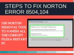 steps to fix norton error 8504 104 2