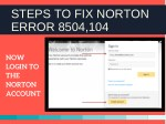 steps to fix norton error 8504 104 3