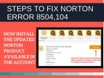 steps to fix norton error 8504 104 4