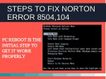 steps to fix norton error 8504 104