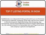 top it listing portal in india