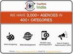 we have 3 000 agencies in 400 categories