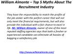 william almonte top 5 myths about the recruitment industry 1