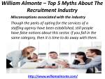 william almonte top 5 myths about the recruitment industry 2