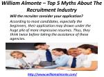 william almonte top 5 myths about the recruitment industry 3