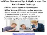 william almonte top 5 myths about the recruitment industry 5