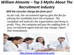 william almonte top 5 myths about the recruitment industry 6