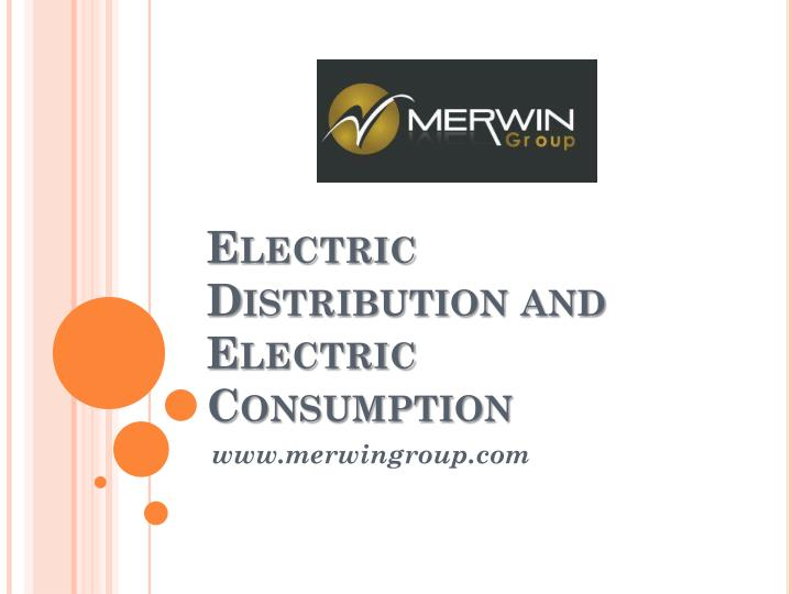 electric distribution and electric consumption n.