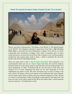 how to make hassle free tours cairo to luxor