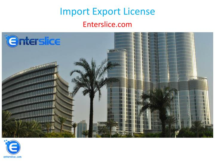import export license n.