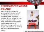 photography service ireland