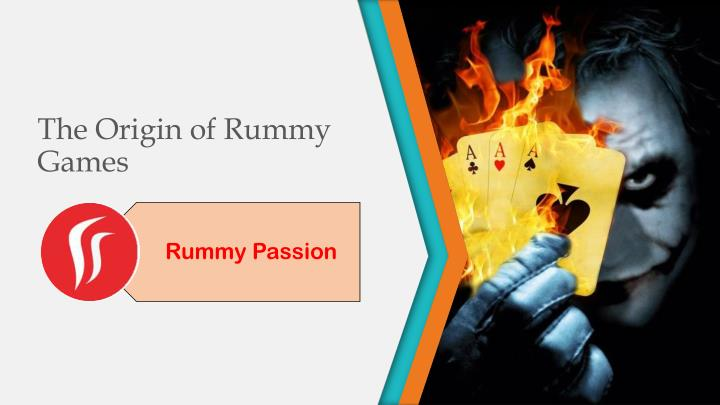 the origin of rummy games n.