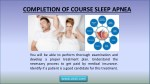 completion of course sleep apnea