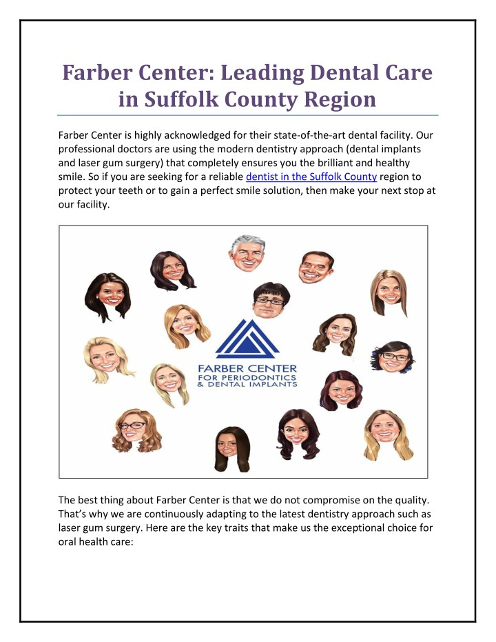 farber center leading dental care in suffolk n.