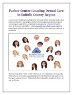 farber center leading dental care in suffolk