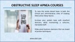 obstructive sleep apnea courses